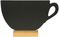 Krijtbord Securit kop 22x33x6cm houten voet