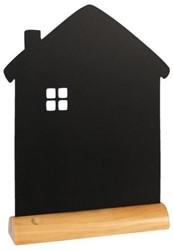 Krijtbord Securit huis 33x21x6cm houten voet