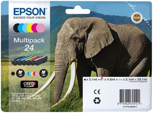 Inktcartridge Epson 24 T2428 foto HD zwart + 5 kleuren