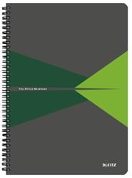 Notitieboek Leitz Office A4 lijn PP groen