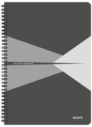 Notitieboek Leitz Office A4 lijn PP grijs