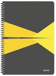 Notitieboek Leitz Office A4 lijn karton geel