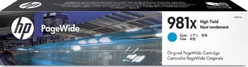 Inktcartridge HP L0R09A 981X blauw HC