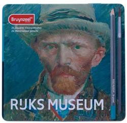 Kleurpotloden Bruynzeel aquarel van Gogh 5701 blik à 24 stuks