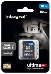 Geheugenkaart Integral SDHC class10 16GB