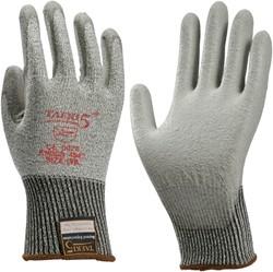 Handschoen snijbestendig Teaki 5 PU grijs XXL