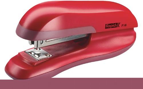 Nietmachine Rapid F16 Halfstrip 20vel 24/6 rood