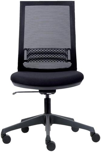 Bureaustoel Euroseats Canillo netgespannen rug zwart