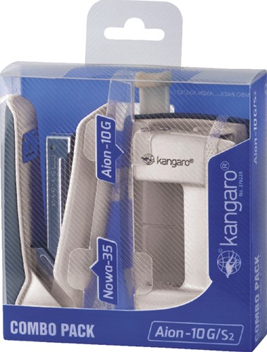 Perforator Nietmachine Kangaro combo pack ivoor