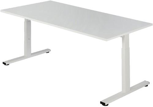 Bureau NPO Pro-Fit vast 120x80cm wit frame wit blad
