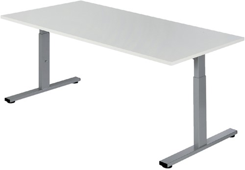 Bureau NPO Pro-Fit instelbaar 180x80cm alu frame wit blad