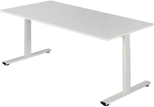 Bureau NPO Pro-Fit instelbaar 180x80cm wit frame wit blad