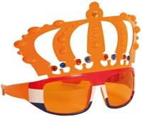 Bril kroon met oranje frame