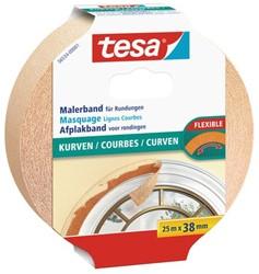 Afplaktape Tesa 38mmx25m voor rondingen