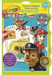 Kleurboek Crayola met stickers mini kids Paw Patrol