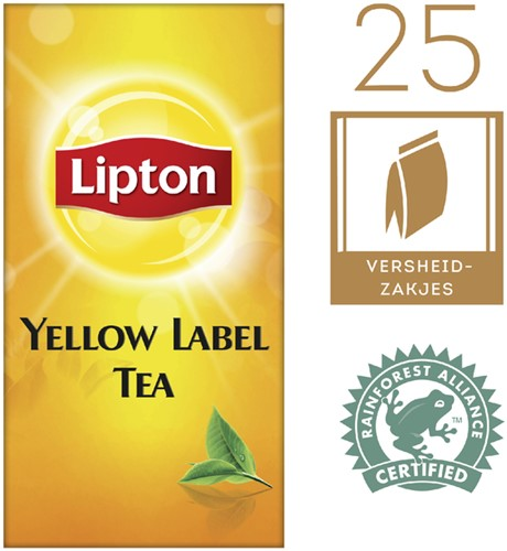 Thee Lipton Yellow label 25stuks