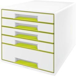 Ladenblok Leitz WOW 5 laden wit/groen