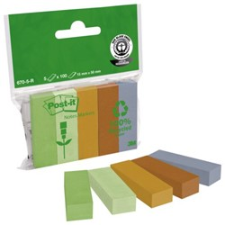 Indextabs 3M Post-it 670/5R papier 5 kleuren