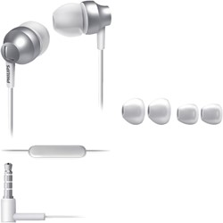 Headset Philips in ear SE3855S zilver/wit