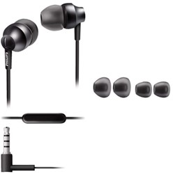 Oortelefoon Philips in ear SHE3955G antraciet grijs
