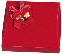 Praline Hamlet harten geschenkverpakking 250gram rood