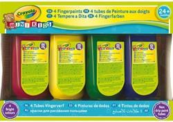 Vingerverf Crayola minikids assorti à 4 stuks