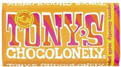 Chocolade Tony's Chocolonely reep 175gr melk popcorn discodip