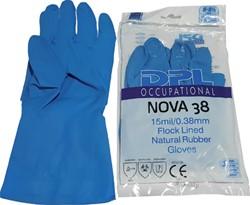 Handschoen huishoud Nova latex S small blauw