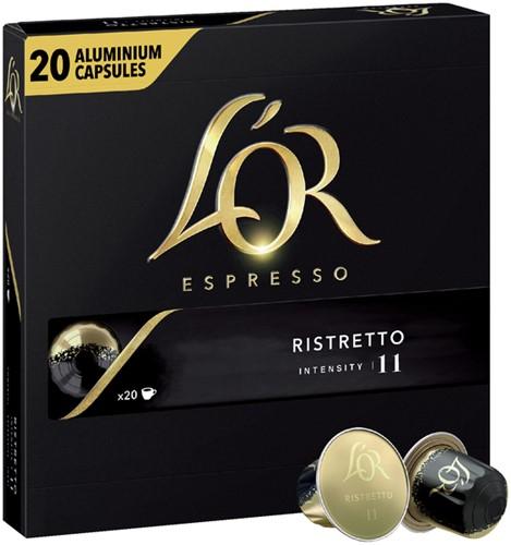Koffiecups Douwe Egberts L'Or Espresso Ristretto 20 stuks