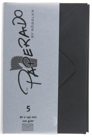 Envelop 90x140mm zwart