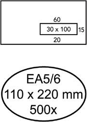 ENVELOP GREEN STAMP VENSTER EA5/6 VR30 90GR WIT 500 STUK