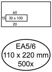 ENVELOP GREEN STAMP VENSTER EA5/6 VL30 90GR WIT 500 STUK