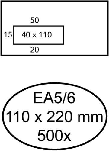 Envelop Quantore venster C5/6 vr 114x229 80gr zelfk. wit-1