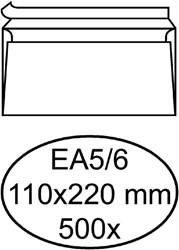 Envelop Hermes Digital EA5/6 110x220nm zelfklevend wit 500st