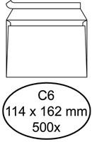 Envelop Hermes bank C6 114x162mm zelfklevend wit 500stuks