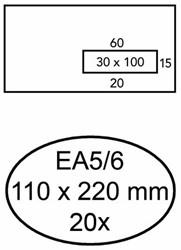 ENVELOP GREEN STAMP VENSTER EA5/6 VR30 90GR WIT 20 STUK