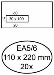 ENVELOP GREEN STAMP VENSTER EA5/6 VL30 90GR WIT 20 STUK