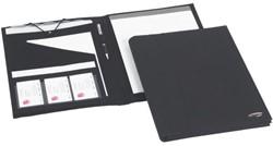 Schrijfmap Rexel soft touch folio zwart