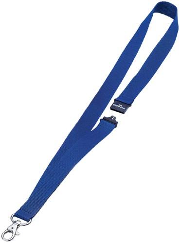 Textielkoord Durable 8137 met karabijnhaak donkerblauw