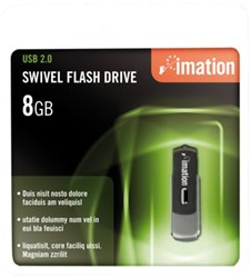 USB-STICK IMATION FLASH DRIVE SWIVEL 8GB 1 STUK