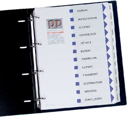 Tabbladen Avery 9-gaats 01640061 12-delig wit printbare tab