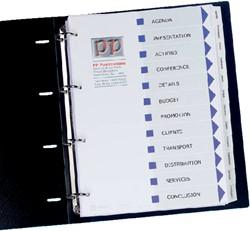 Tabbladen Avery 9-gaats 01812061 10-delig wit printbare tab