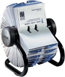 Visitekaartenmolen Rolodex RL67236 67x102mm 200kaarten zwart