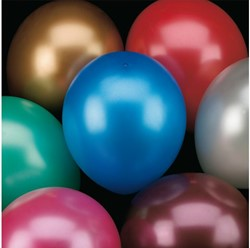 BALLON HAZA METALLIC ASSORTI 6 STUK