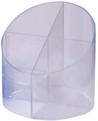 PENNENBAK HELIT 4-VAKS TRANSPARANT GLASHELDER 1 STUK