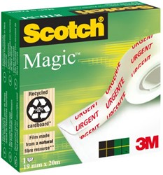 PLAKBAND 3M SCOTCH 810 19MMX20M MAGIC URGENT 1 STUK