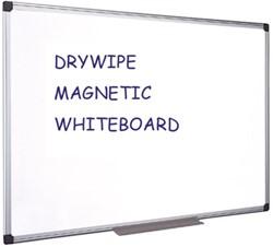 Whiteboard Quantore 90x120cm magnetisch gelakt staal