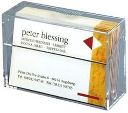 Visitekaartenbak Sigel VA110 85x56x27mm glashelder