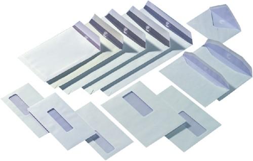 Envelop Quantore 110x220mm venster 3x10cm rechts zelfkl 500s-3
