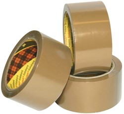 Verpakkingstape Scotch 3715 50mmx66m bruin PP